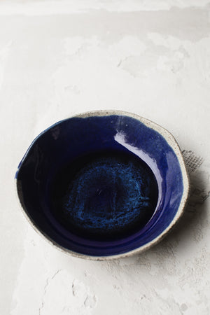 deep blue breakfast bowl by clay beehive ceramics