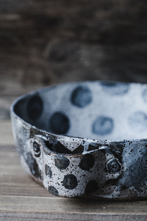 Extra Deep Rustic Polka Dot Baking Dish with Handles