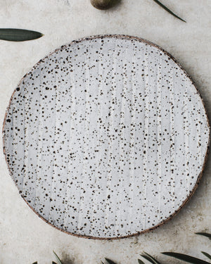 gritty rustic hand made tapas plates /bowls by clay beehive ceramics