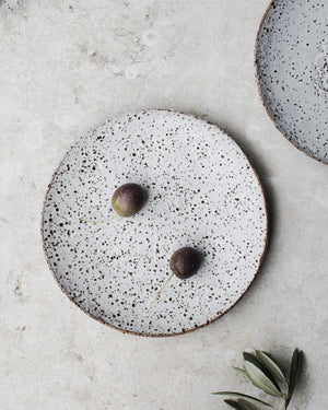 rustic gritty tapas plates /bowls hand made by clay beehive ceramics