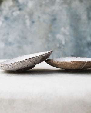 Footed handmade ceramic bowls hand built by clay beehive ceramics