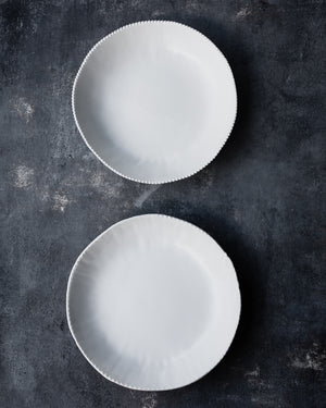 Satin white ceramic bowls tableware for giftware by clay beehive