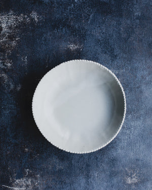 white ceramic bowl for smoothies soup salads pasta breakfast made by clay beehive