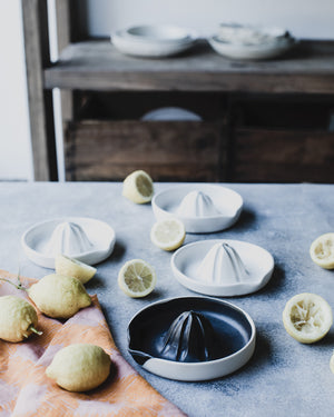 wheel thrown ceramic juicer perfect for you lemons by clay beehive