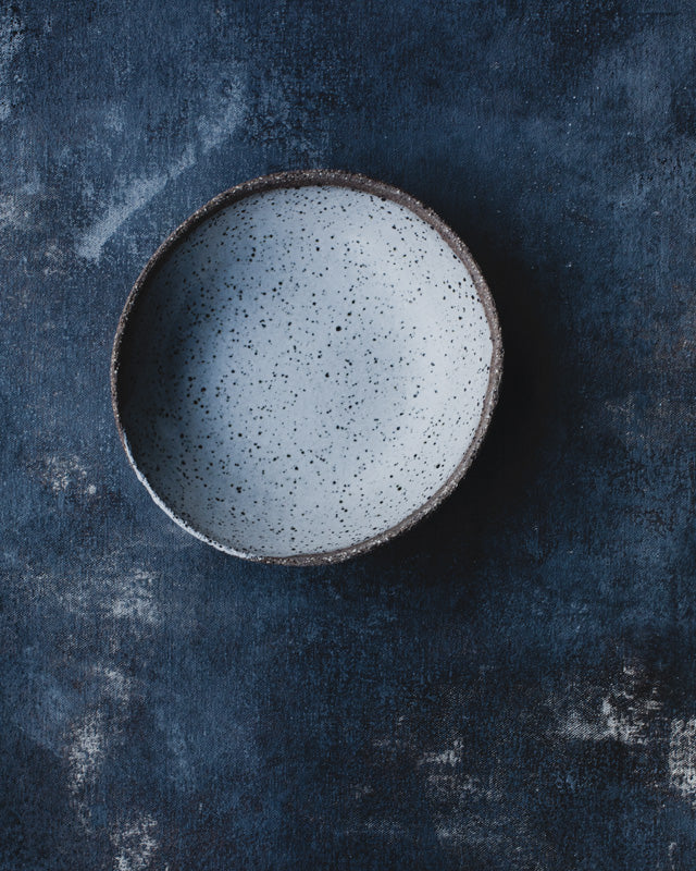 Ceramic textural bowl for smoothies and breakfast or salads made by clay beehive