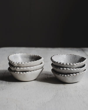salt condiment dishes bowls perfect for cooking with spice ceramics by clay beehive