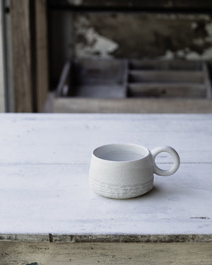 Ceramic stoneware cups hand crafted on the pottery wheel by clay beehive ceramics