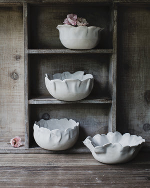 Petal bowls hand made by clay beehive ceramics