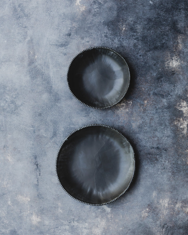 satin black bowls handmade ceramics by clay beehive