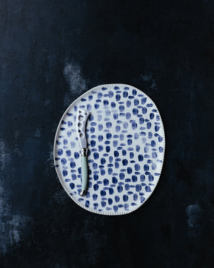 Blue & White Oval shaped Platter / Plate