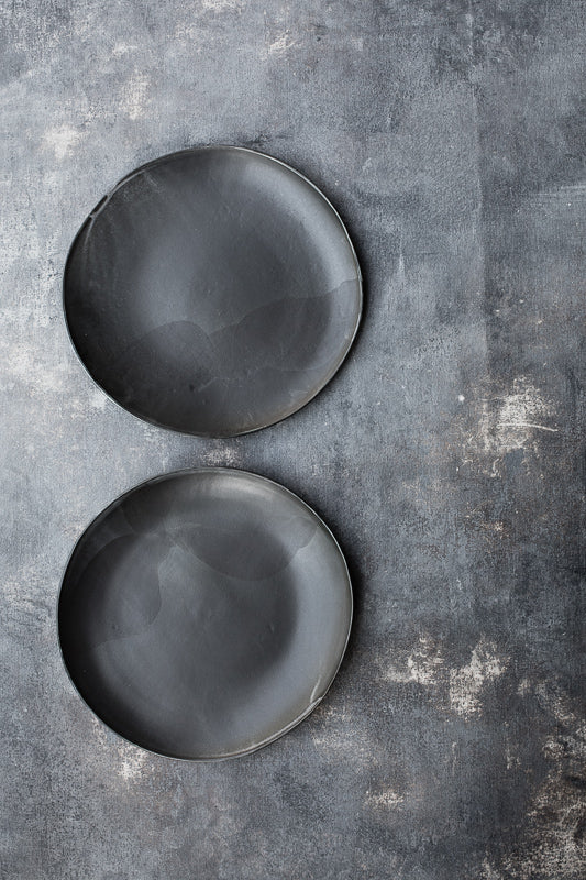 satin black glazed hand made ceramic bowls by clay beehive