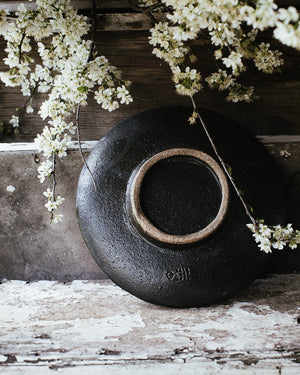black footed rustic gritty hand made ceramic bowls by clay beehive