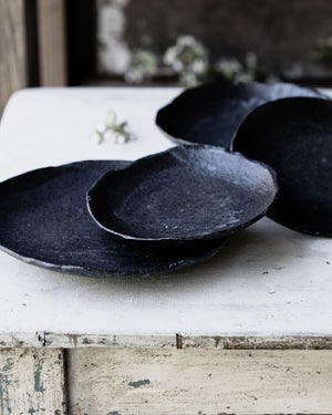 black footed rustic stoneware pottery bowls by clay beehive ceramic
