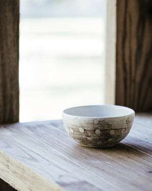 Little spotty wheelthrown bowl