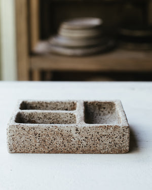 Kurinuki dish perfect for salt and spices handmade by clay beehive ceramics