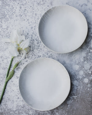 satin white gritty bowls handmade by clay beehive ceramics