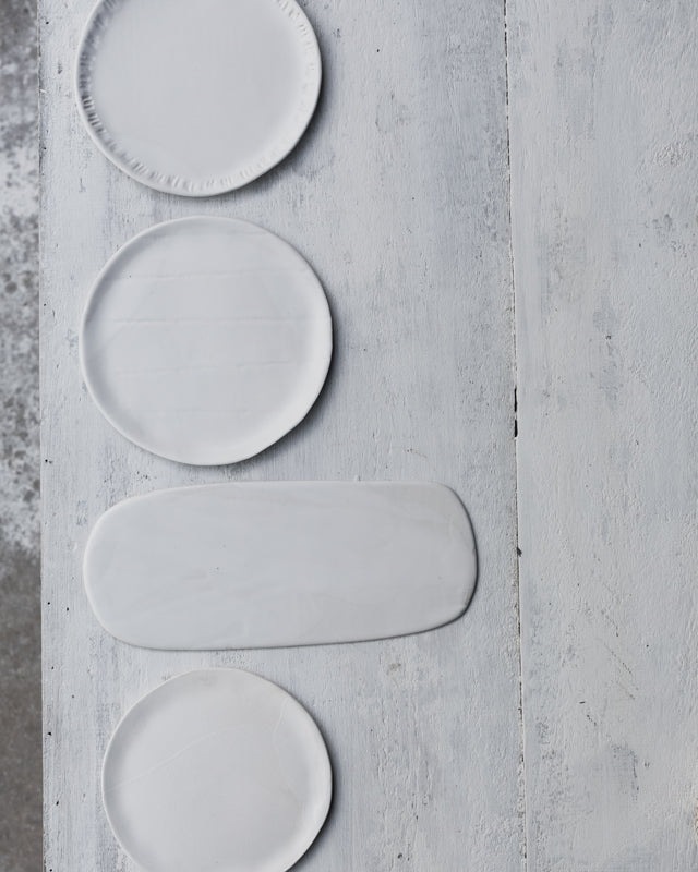 Assorted Satin white Plates