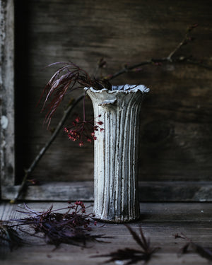 rustic vase handcrafted by clay beehive ceramics