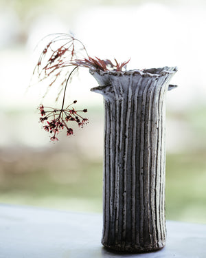 Rustic tree branch vase