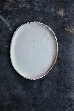 Rustic plates with a stripey duo