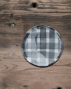 Grey tartan & check pattern Plates