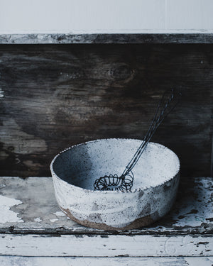 rustic serving bowl by clay beehive