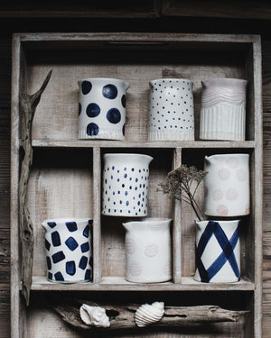 Handmade ceramic farmhouse pourers/jugs by Clay Beehive