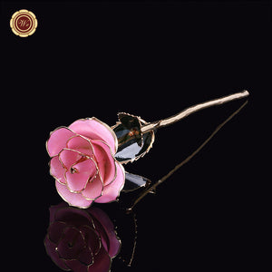 24k Gold Stem Lavender Pink Rose