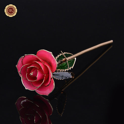 24K Gold Stem Rosado Rose