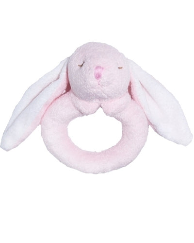 Pink Bunny Ring Rattle