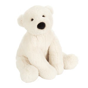 Perry polar bear stuffed animal by Jellycat official gifting baby toddler