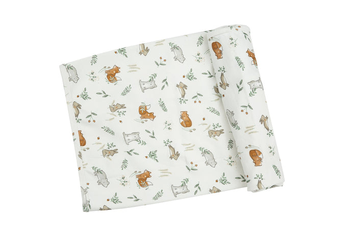 Wild Wild West Delicate Woodland Swaddle Blanket
