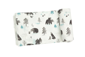 Wild Wild West Mama and Cubs Swaddle Blanket