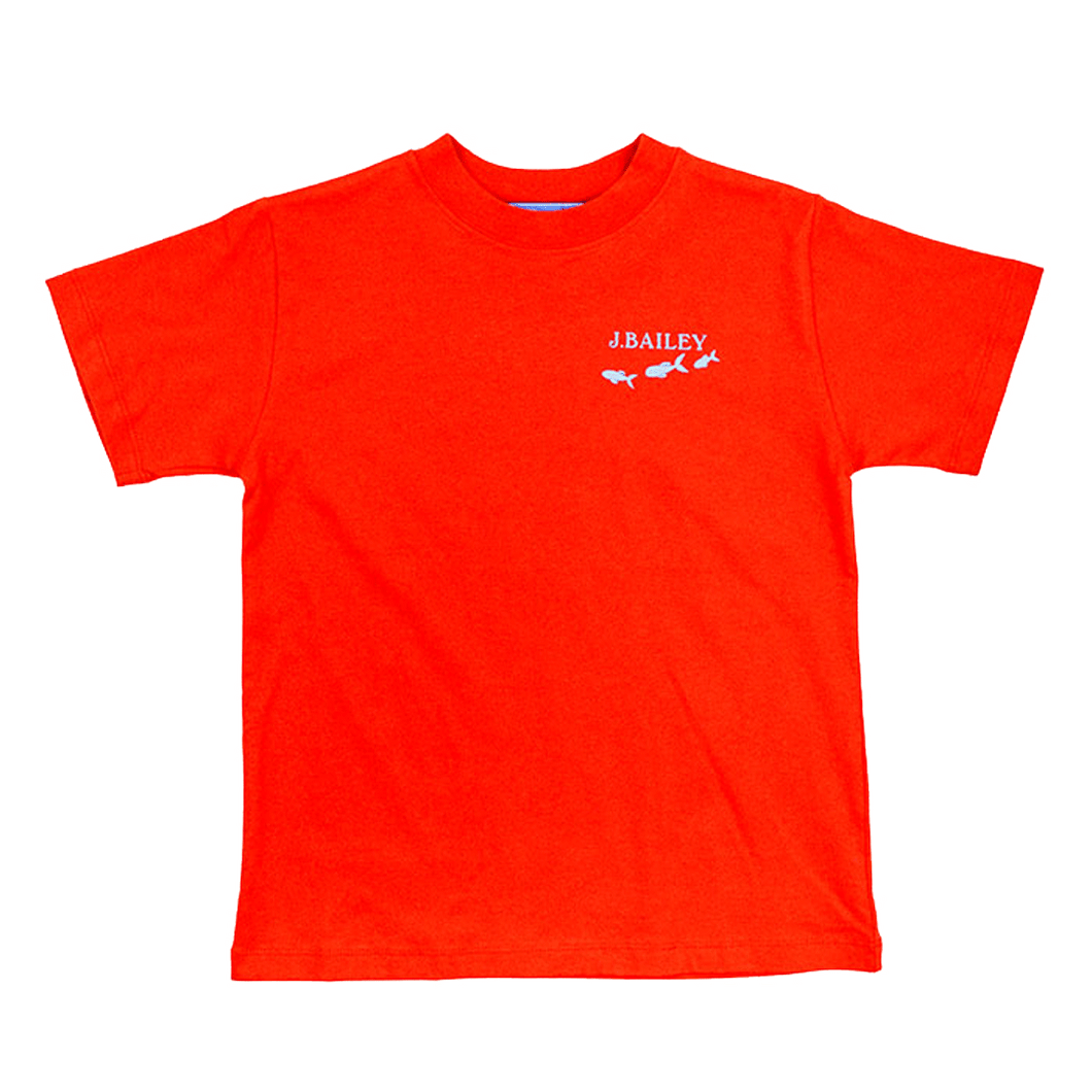 Fish Swirl on Cayenne Logo Tee