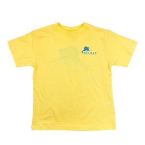 Mosaic Fish on Yellow Logo Tee