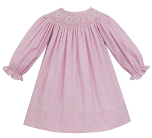 Katherine Cord Bishop Dress in Pink