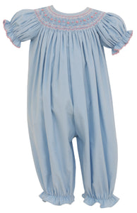 Amelia Blue Cord Bishop Romper