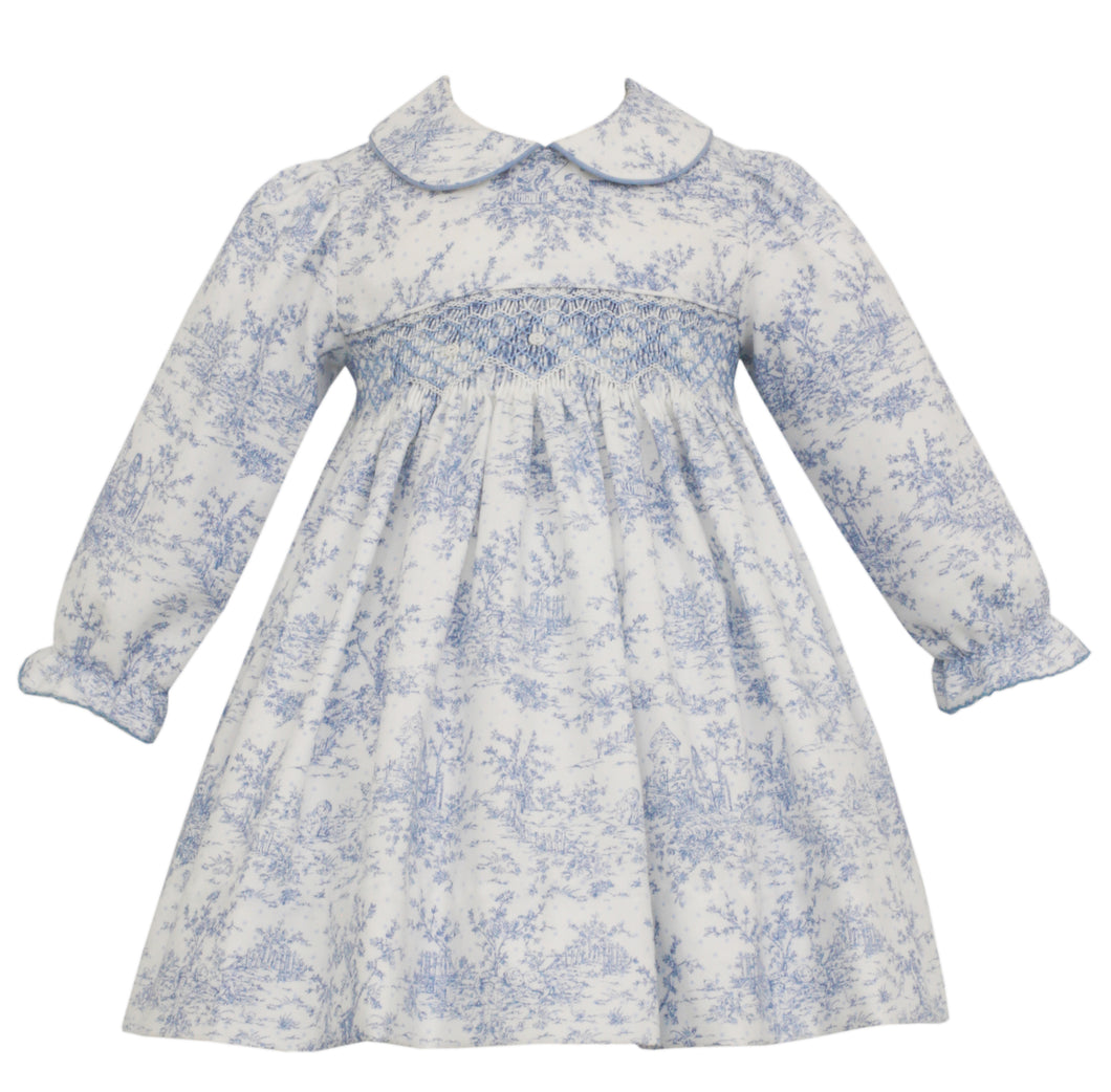 Elizabeth Toile Smocked Peter Pan Dress