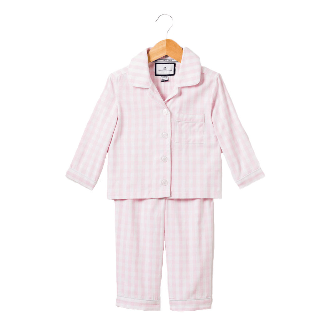 1z 2z 3z pink gingham pajama set petite plume luxurious pajamas baby and toddler boutique