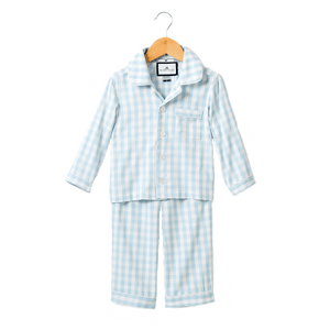 1z 2z 3z baby and toddler boutique prince george pajamas blue check petite plume luxurious sleepwear