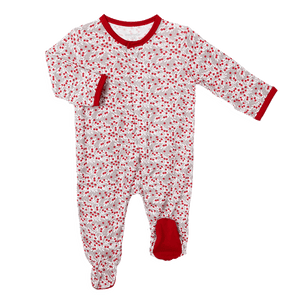 1z 2z 3z Magnetic Me Holly Magnetic footie christmas and holiday footie classic baby outfit