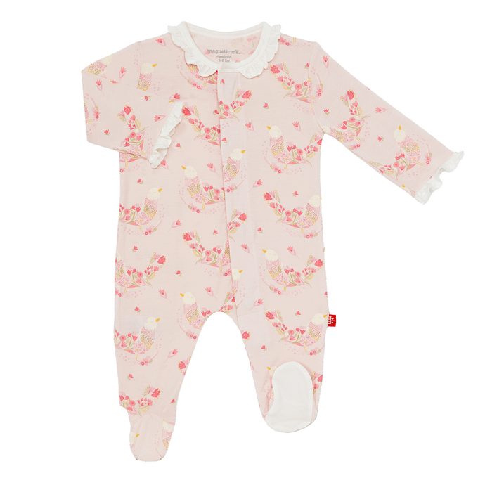 1z 2z 3z magnetic footie baby girl boutique clothing modal cotton sleepwear