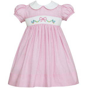 Anavini 1z 2z 3z smocked bird pink spring boutique dress