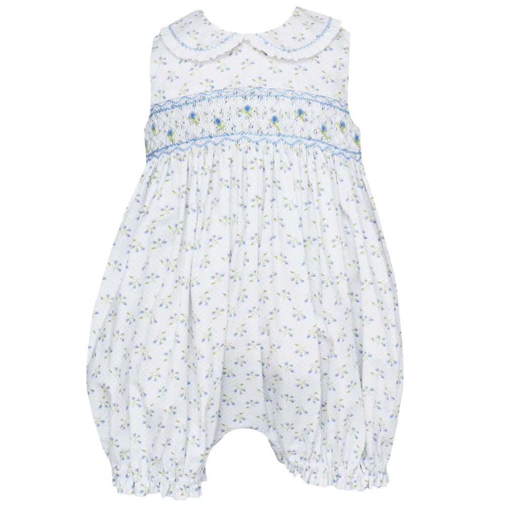 1ff98461d Stephanie White and Blue Floral Bubble with Collar – 1Z 2Z 3Z Baby ...