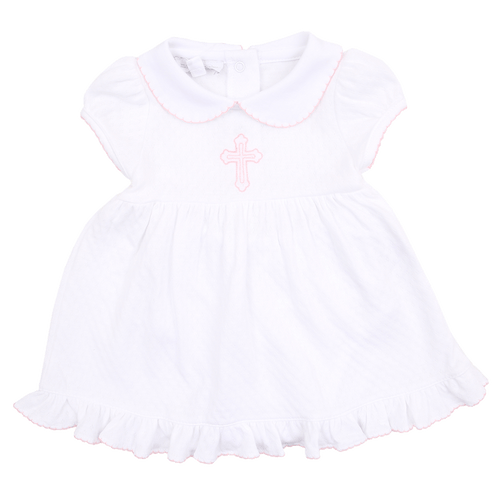 So Blessed Embroidered Collared Dress