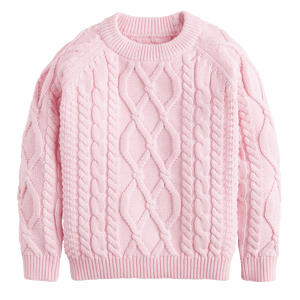 1z 2z 3z pink cable knit sweater by little english classic children and toddler boutique clothing