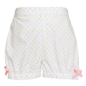 Birthday Smocked Pink Shirt with Multi Color Dot Shorts