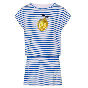 Blue Sicilian Lemon Jersey Dress