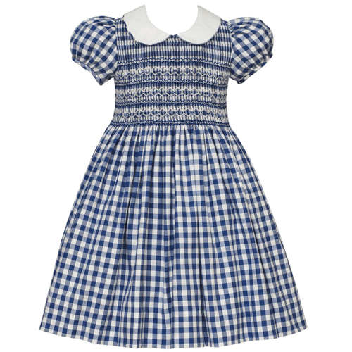 1z 2z 3z smock blue plaid dress anavini girl clothing childrens boutique richmond virginia