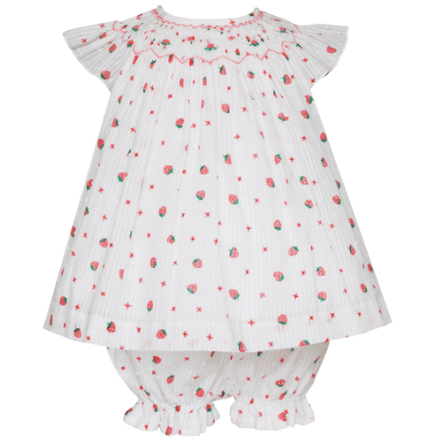 Swiss Dot Strawberry Bloomer Set
